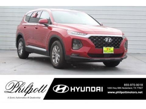 Scarlet Red Hyundai Santa Fe SEL.  Click to enlarge.