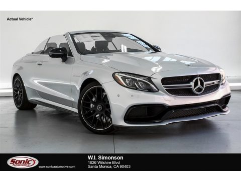 Iridium Silver Metallic Mercedes-Benz C 63 AMG Cabriolet.  Click to enlarge.
