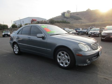 Granite Grey Metallic Mercedes-Benz C 240 Sedan.  Click to enlarge.