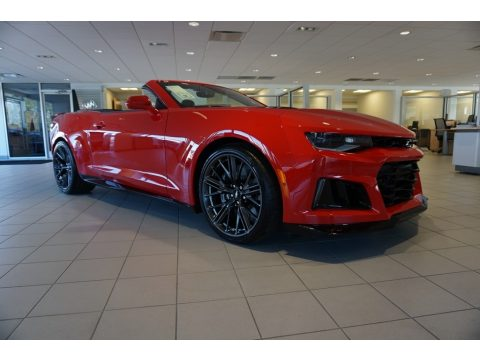 Red Hot Chevrolet Camaro ZL1 Convertible.  Click to enlarge.