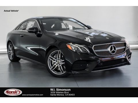 Black Mercedes-Benz E 450 Coupe.  Click to enlarge.