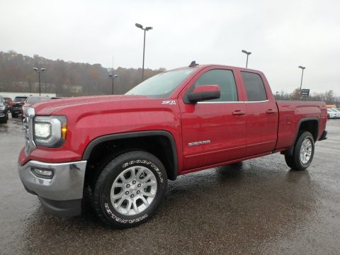 Red Quartz Tintcoat GMC Sierra 1500 SLE Double Cab 4WD.  Click to enlarge.