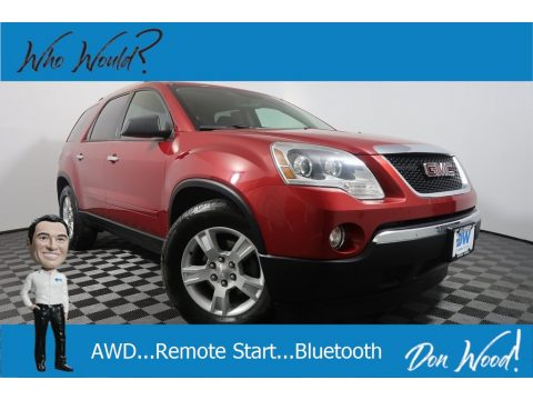 Crystal Red Tintcoat GMC Acadia SLE AWD.  Click to enlarge.