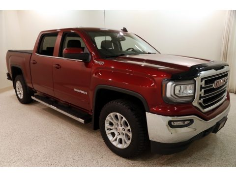 Crimson Red Tintcoat GMC Sierra 1500 SLE Crew Cab 4WD.  Click to enlarge.