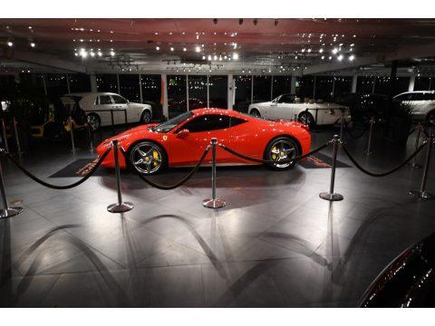 Rosso Corsa (Red) Ferrari 458 Italia.  Click to enlarge.
