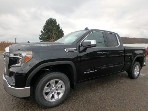 Onyx Black GMC Sierra 1500 SLE Double Cab 4WD.  Click to enlarge.