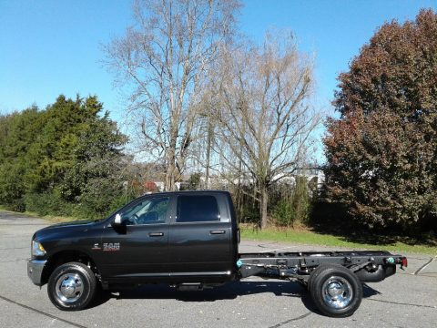 Brilliant Black Crystal Pearl Ram 3500 Tradesman Crew Cab 4x4 Chassis.  Click to enlarge.