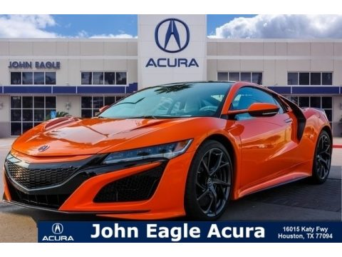 Thermal Orange Pearl Acura NSX .  Click to enlarge.