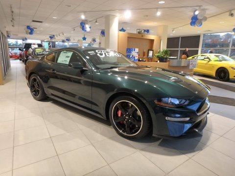 Dark Highland Green Ford Mustang Bullitt.  Click to enlarge.