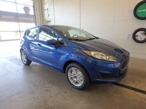 Lightning Blue Ford Fiesta SE Hatchback.  Click to enlarge.