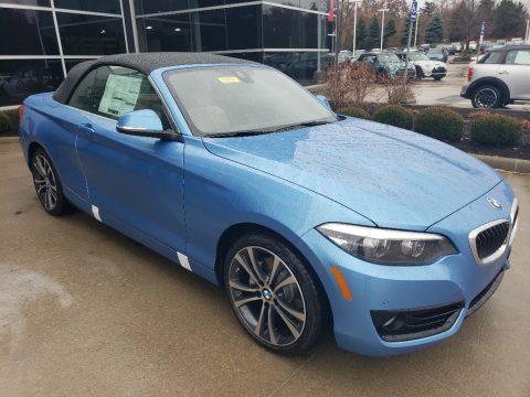 Seaside Blue Metallic BMW 2 Series 230i xDrive Convertible.  Click to enlarge.