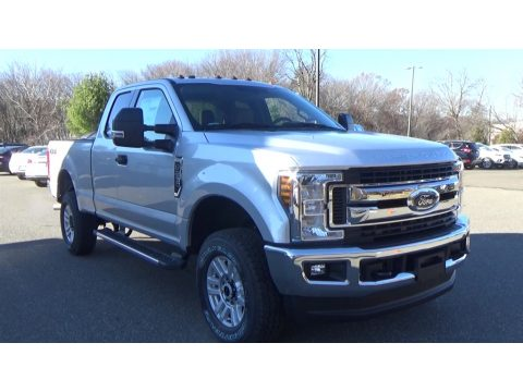Ingot Silver Ford F250 Super Duty XLT SuperCab 4x4.  Click to enlarge.