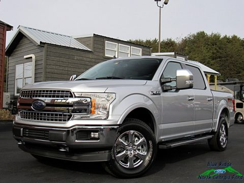 Ingot Silver Ford F150 Lariat SuperCrew 4x4.  Click to enlarge.