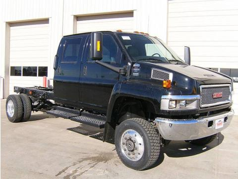 Onyx Black GMC C Series Topkick C5500 Crew Cab 4x4 Chassis.  Click to enlarge.