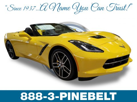 Corvette Racing Yellow Tintcoat Chevrolet Corvette Stingray Convertible.  Click to enlarge.
