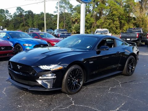 Shadow Black Ford Mustang GT Fastback.  Click to enlarge.