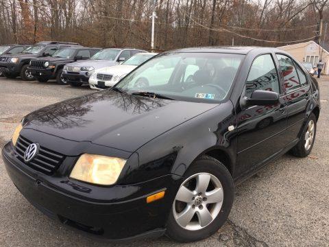 Black Volkswagen Jetta GLS 1.8T Sedan.  Click to enlarge.