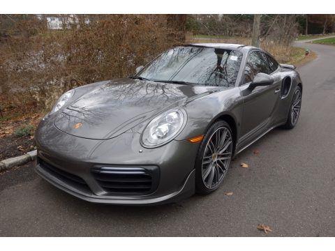 Agate Grey Metallic Porsche 911 Turbo Coupe.  Click to enlarge.