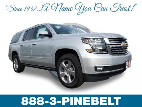 Silver Ice Metallic Chevrolet Suburban Premier 4WD.  Click to enlarge.