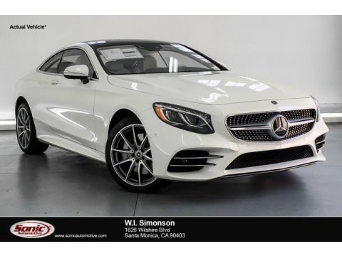 designo Diamond White Metallic Mercedes-Benz S 560 4Matic Coupe.  Click to enlarge.