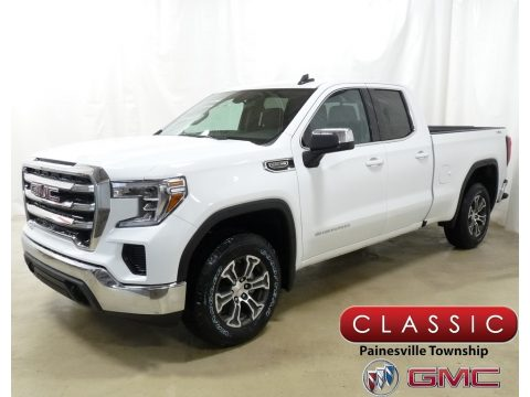 Summit White GMC Sierra 1500 SLE Double Cab 4WD.  Click to enlarge.