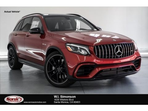 designo Cardinal Red Metallic Mercedes-Benz GLC AMG 63 4Matic.  Click to enlarge.