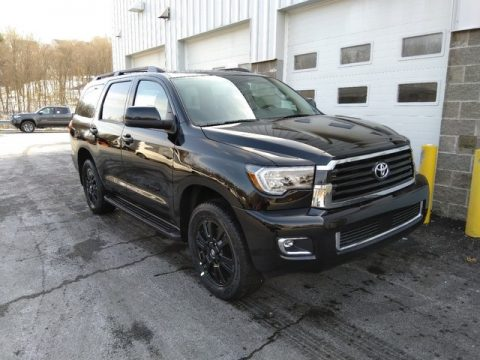 Midnight Black Metallic Toyota Sequoia TRD Sport 4x4.  Click to enlarge.