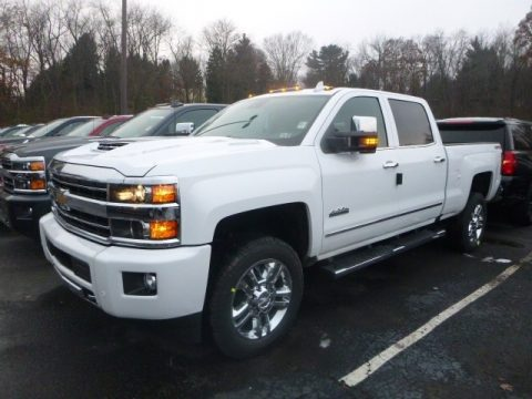 Summit White Chevrolet Silverado 2500HD High Country Crew Cab 4WD.  Click to enlarge.