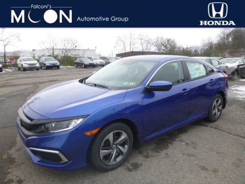 Agean Blue Metallic Honda Civic LX Sedan.  Click to enlarge.