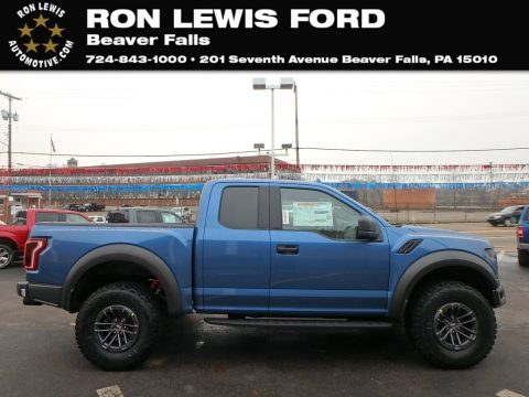 Performance Blue Ford F150 SVT Raptor SuperCab 4x4.  Click to enlarge.
