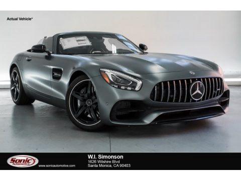 designo Selenite Grey Magno (Matte) Mercedes-Benz AMG GT Roadster.  Click to enlarge.