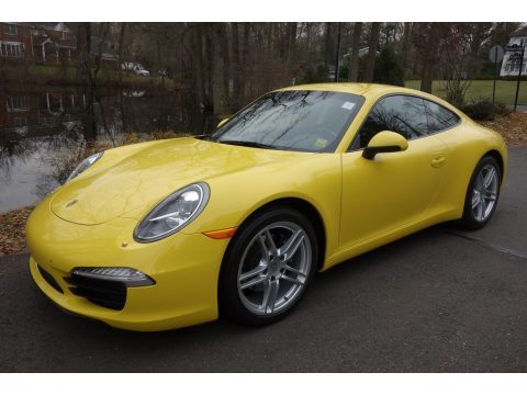 Racing Yellow Porsche 911 Carrera Coupe.  Click to enlarge.