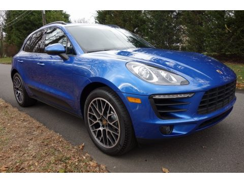Sapphire Blue Metallic Porsche Macan Sport Edition.  Click to enlarge.