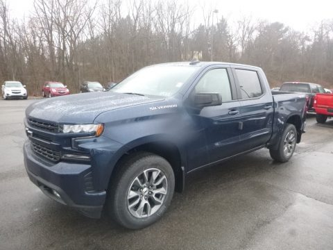 Northsky Blue Metallic Chevrolet Silverado 1500 RST Crew Cab 4WD.  Click to enlarge.