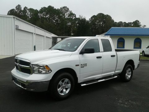 Bright White Ram 1500 Classic Tradesman Quad Cab 4x4.  Click to enlarge.