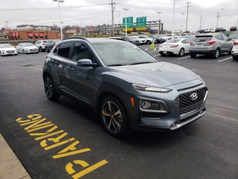 Thunder Gray Hyundai Kona Limited AWD.  Click to enlarge.