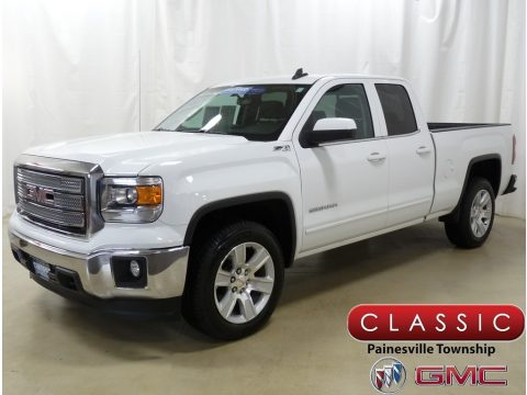 Summit White GMC Sierra 1500 SLE Double Cab 4x4.  Click to enlarge.
