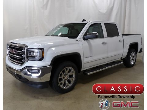 Summit White GMC Sierra 1500 SLT Crew Cab 4WD.  Click to enlarge.