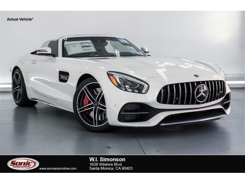 designo Diamond White Metallic Mercedes-Benz AMG GT C Roadster.  Click to enlarge.