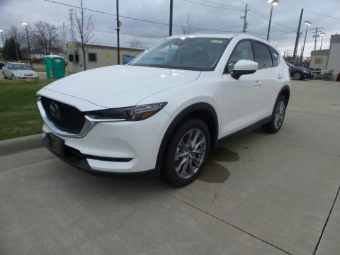 Snowflake White Pearl Mica Mazda CX-5 Grand Touring Reserve AWD.  Click to enlarge.