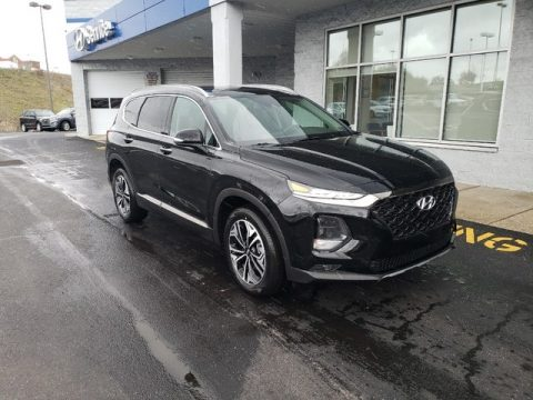 Twilight Black Hyundai Santa Fe Limited AWD.  Click to enlarge.