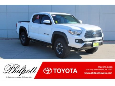 Super White Toyota Tacoma TRD Off-Road Double Cab 4x4.  Click to enlarge.