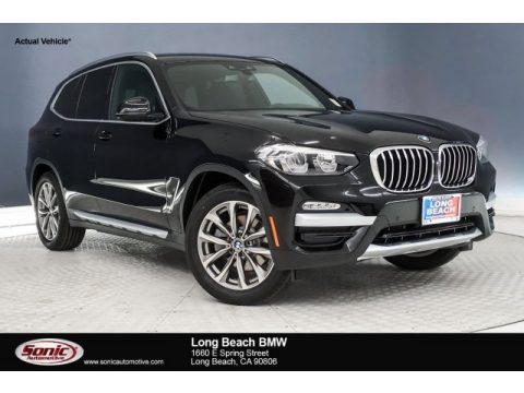 Jet Black BMW X3 sDrive30i.  Click to enlarge.