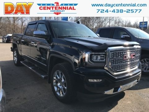 Onyx Black GMC Sierra 1500 Denali Crew Cab 4WD.  Click to enlarge.