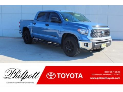 Cavalry Blue Toyota Tundra TSS Off Road CrewMax.  Click to enlarge.