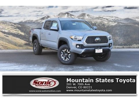 Cement Gray Toyota Tacoma TRD Off-Road Double Cab 4x4.  Click to enlarge.