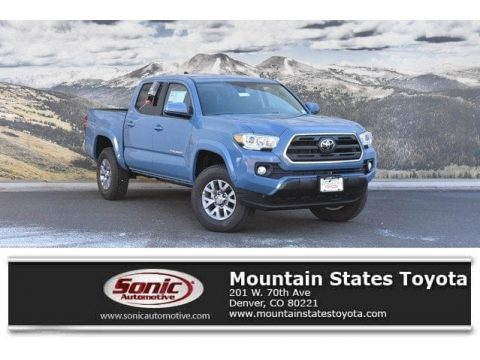 Cavalry Blue Toyota Tacoma SR5 Double Cab 4x4.  Click to enlarge.