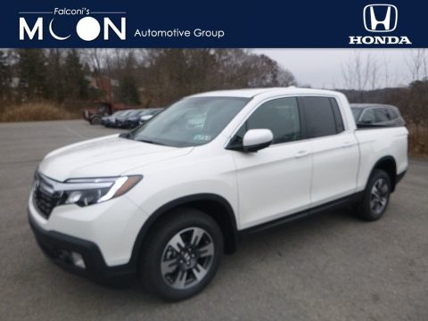 White Diamond Pearl Honda Ridgeline RTL-T AWD.  Click to enlarge.