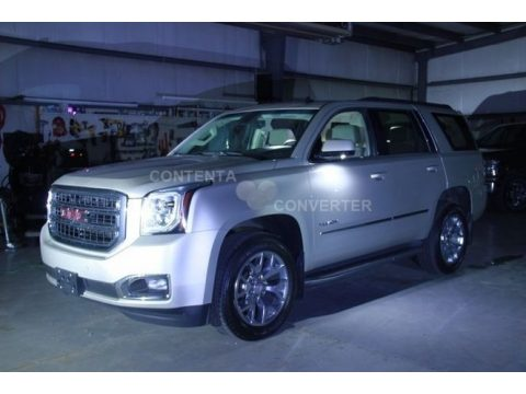 Champagne Silver Metallic GMC Yukon SLT 4WD.  Click to enlarge.