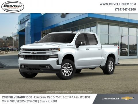 Summit White Chevrolet Silverado 1500 RST Crew Cab 4WD.  Click to enlarge.